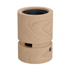 Lamp holder wood ES