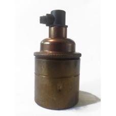 Lampsockel E27 Oxiderad mässing