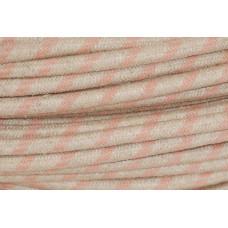 Textilkabel Linne/Rosa