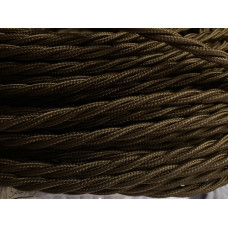 Fabric cable brown