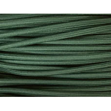 Fabric cable dark green
