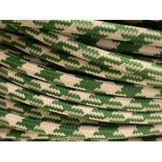 Fabric cable pepita green/white