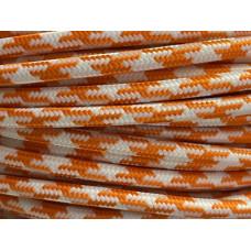 Fabric cable pepita orange/white