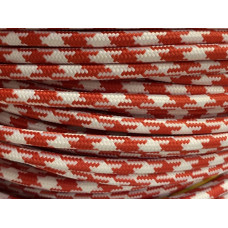 Fabric cable pepita red/white