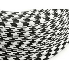 Fabric cable pepita black/white