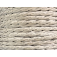 Fabric cable white